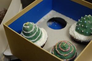 Impressive Christmas Tree cupcakes