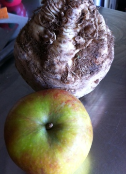 Apple and the ugly veg, celeriac