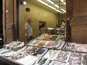 After filling up at lunch, pick up fresh fish for dinner at the nearby fishmonger