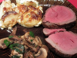 Chateaubriand with Sauteed Mushrooms